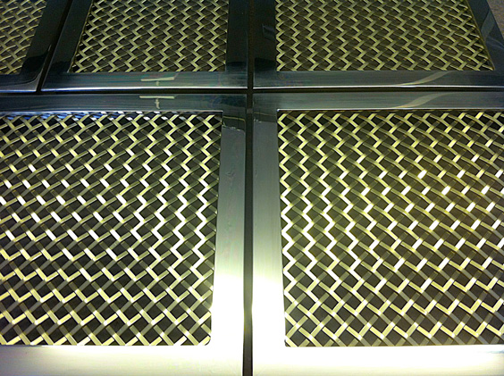 brass grilles framed