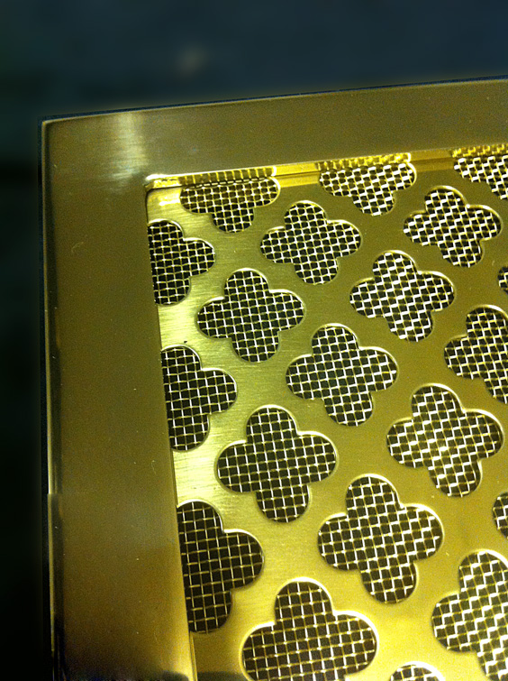 brass framed radiator grilles