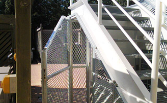 Understairs air conditioning cage