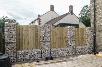 Timber_&_gabion_boundary_fence