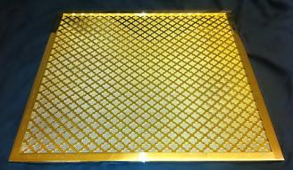 Brass framed grille